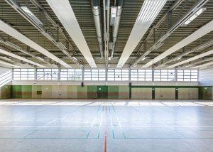 Mehrzweckhalle Bad Hönningen: Deckenheizung